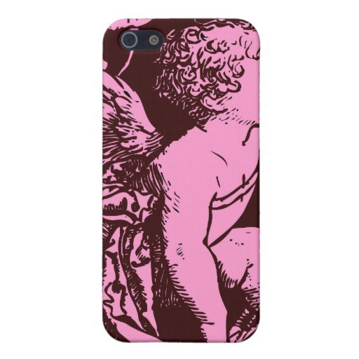 Chocolate cupid with wheat stalk vintage print iPhone 5 cover