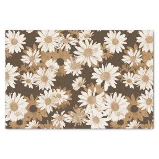 Chocolate Daisies Tissue Paper