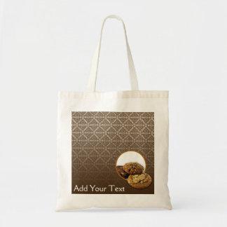 Chocolate Damask Desserts Budget Tote Bag