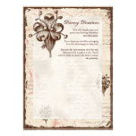 Chocolate Damask Swirl Driving Directions Hotel Personalized Invitations