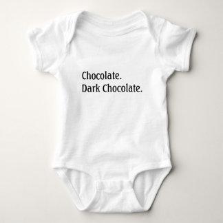 Chocolate. Dark chocolate. Baby Bodysuit