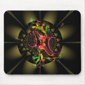 Chocolate Decadence Colorful Fractal Geometric Art Mouse Pad
