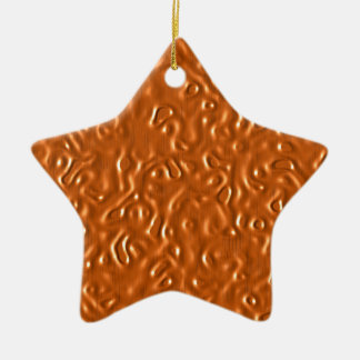 Chocolate Design Ceramic Star Decoration