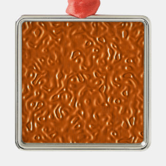 Chocolate Design Silver-Colored Square Decoration