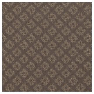 Chocolate Diamonds - Dark Brown Pattern Fabric
