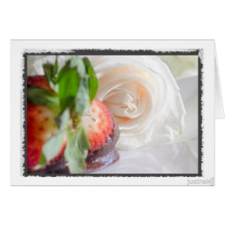 Chocolate dipped Strawberries (blank) Card