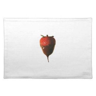 Chocolate dipped strawberry placemat