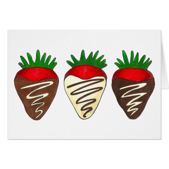 Chocolate Dipped Strawberry Valentine's Day Fruit Card