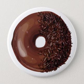 Chocolate Dipped with Chocolate Sprinkles Doughnut 10 Cm Round Badge