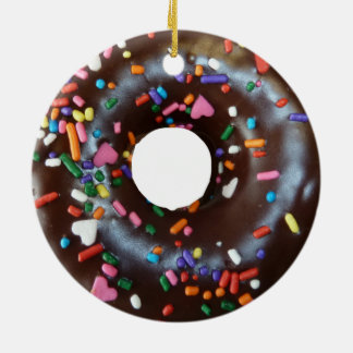 Chocolate donut christmas ornament