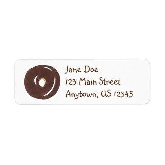 Chocolate Donut Doughnut Breakfast Address Labels