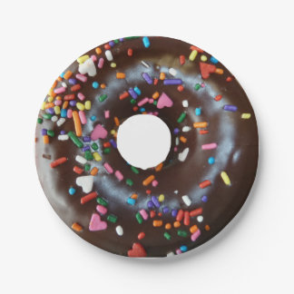 Chocolate donut paper plate