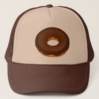 CHOCOLATE DONUT TRUCKER HAT