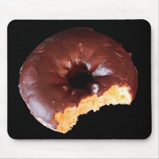 Chocolate Donut With Large Bite Photo Mouse Mat