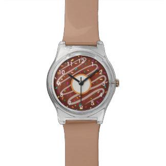 Chocolate Donut with Rainbow Sprinkles Watch