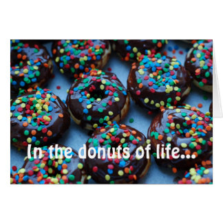 Chocolate Donuts with Sprinkles Card