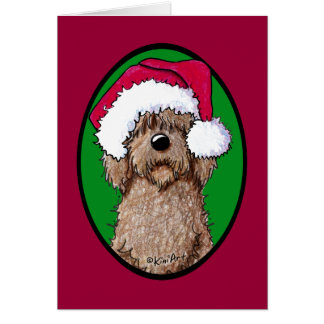 Chocolate Doodle Santa Greeting Card