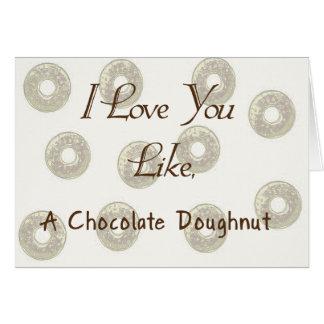 Chocolate Doughnut Card