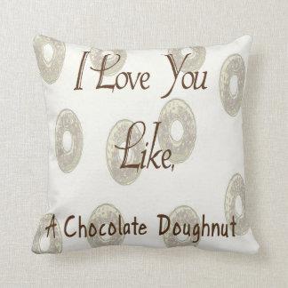 Chocolate Doughnut Cushion