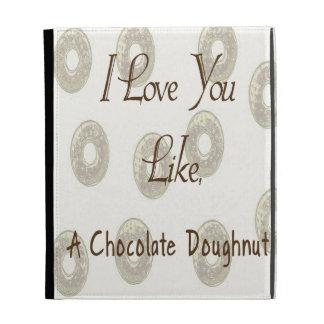 Chocolate Doughnut iPad Folio Case