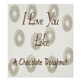 Chocolate Doughnut Poster