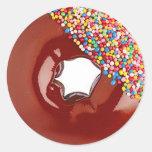 Chocolate Doughnut Round Sticker