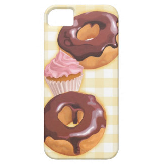 Chocolate doughnuts and cupcake iPhone 5 case