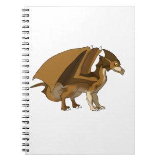 Chocolate Dragon Remake No Background Spiral Note Book