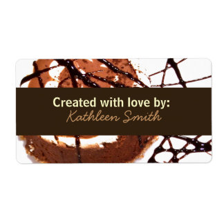 Chocolate Dream Recipe/Goodies Label Shipping Label