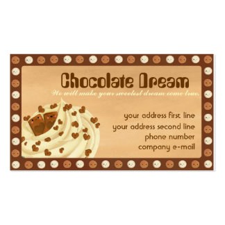 Chocolate Dream Sweetest Business Cards