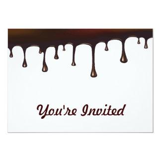 Chocolate Drip 13 Cm X 18 Cm Invitation Card