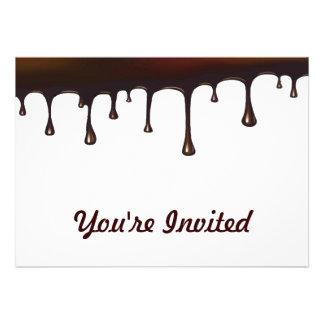 Chocolate Drip Set Personalized Invite