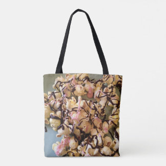 Chocolate Drizzled Salted Popcorn Tote Bag