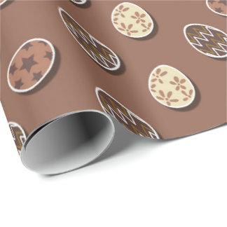 Chocolate Easter eggs Holiday wrapping paper