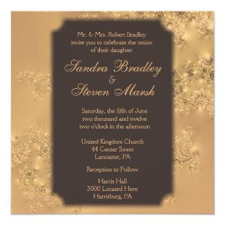 Chocolate Elegance Wedding Invitations