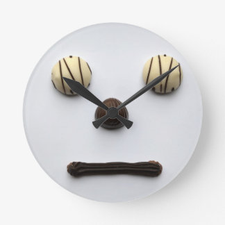 """Chocolate Face"" Wall Clock"