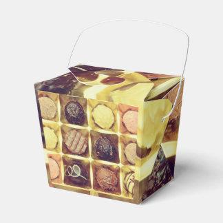 Chocolate favour takeway box