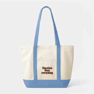 Chocolate fixes everything impulse tote bag