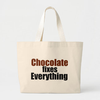 Chocolate fixes Everything Jumbo Tote Bag