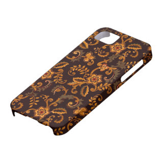 Chocolate Floral iPhone SE/5/5S Barely There Case