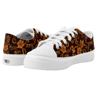 Chocolate Floral Low-top Sneakers