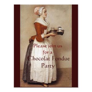 CHOCOLATE FONDUE DINNER PARTY 11 CM X 14 CM INVITATION CARD