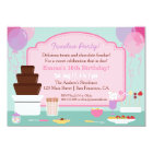 Chocolate Fondue Girls Birthday Party Invitations