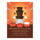 Chocolate Fountain Fondue Party Invitation