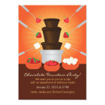 Chocolate Fountain Fondue Party Invitation