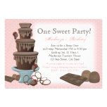 Chocolate Fountain Movie Sleepover Personalized Invitation