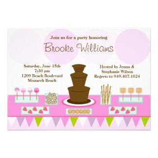 Chocolate Fountain Party Invitation