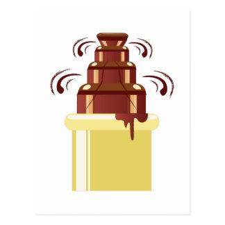 Chocolate Fountain Postcard