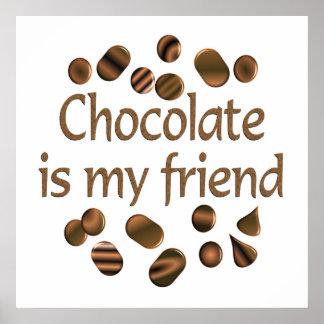 Chocolate Friend Print