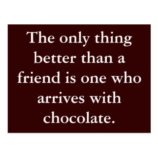 Chocolate Friendship Postcard Motivation